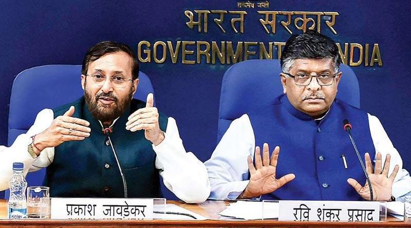 Union Ministers Ravi Shankar Prasad, Prakash Javadekar quit before reshuffle | Sangbad Pratidin