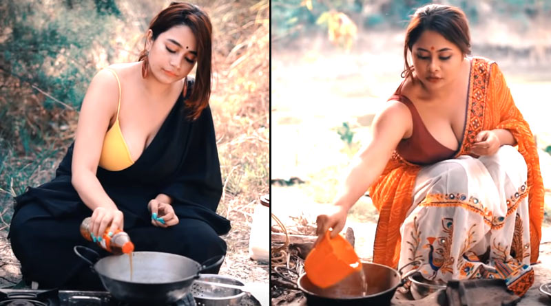 Netizens awtruck by Unique Village Food Recipe of Rimpi and Parna | Sangbad Pratidin