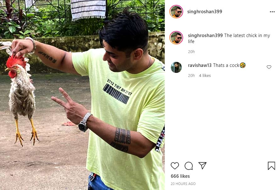 Srabanti Chatterjee's husband Roshan Singh's instagram post draws flak from netizens