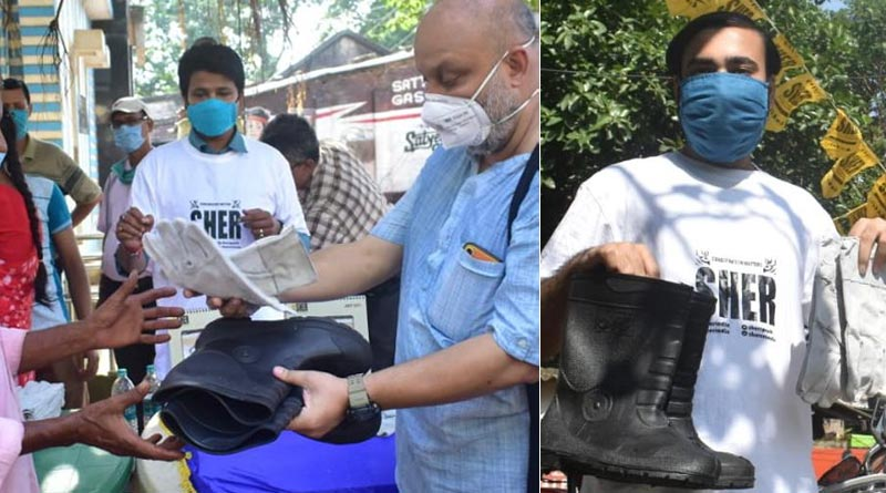 SHER, wildlife conservation organization distributes gumboots and gloves to 100 people in Hooghly to keep them safe from snake bite | Sangbad Pratidin