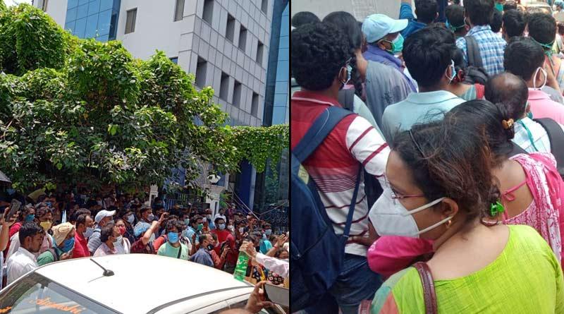 SSC aspirants stage protest infront of head office at Salt Lake | Sangbad Pratidin