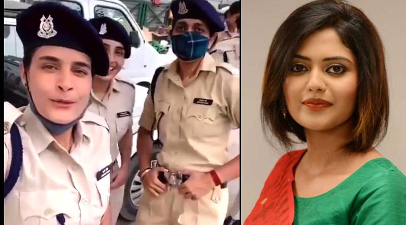Saayoni Ghosh Posted Dancing Video of 'Dabangg' Lady Police officer   Sangbad Pratidin
