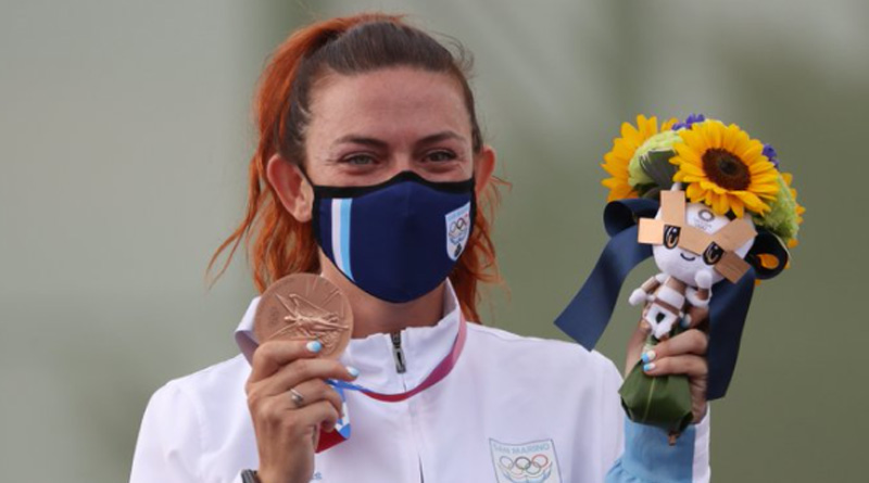 San Marino is smallest country in history to win a medal at the Olympics thanks to shooter Alessandra Perilli | Sangbad Pratidin