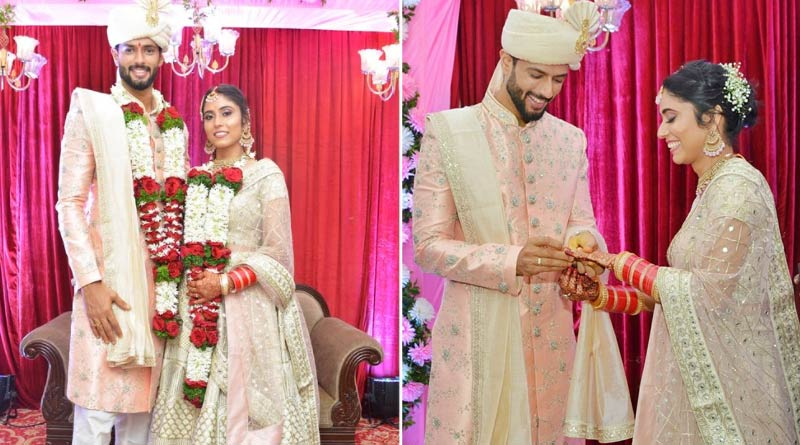 Indian cricketer Shivam Dube Marries Girlfriend Anjum Khan In Private Wedding | Sangbad Pratidin