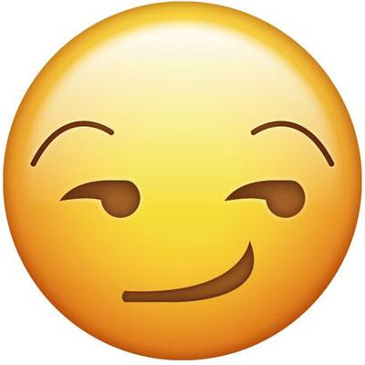 Smirking emoji Meaning