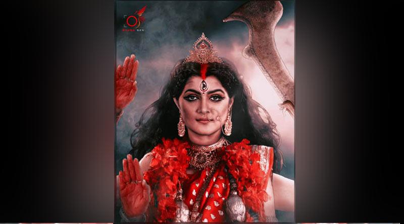 Tollywood actress Srabanti Chatterjee depicts goddess Kali   Sangbad Pratidin