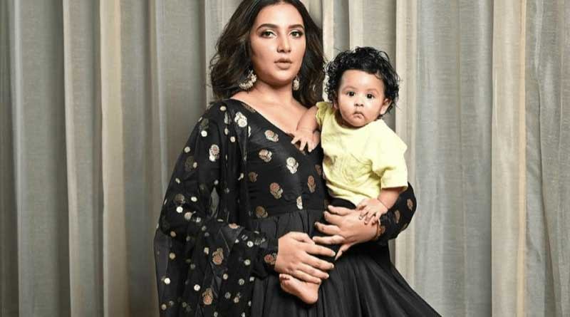 Raj Chakraborty son yuvaan chakrabortys first photo shoot with mother Subhashree Ganguly | Sangbad Pratidin