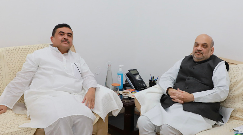 The Leader of the Opposition in the West Bengal Suvendu Adhikari met Union Home Minister Amit Shah | Sangbad Pratidin