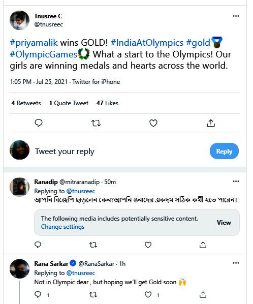 Tanusree Chakraborty trolled for her tweet about Priya Malik