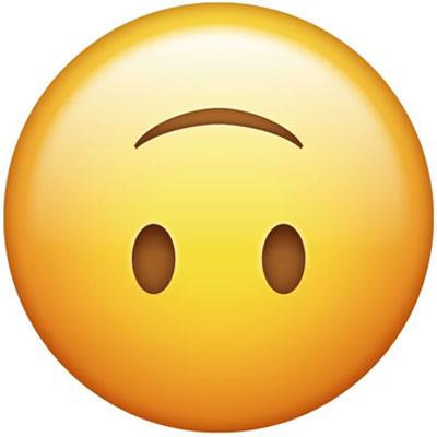 Upside-down-emoji Meaning