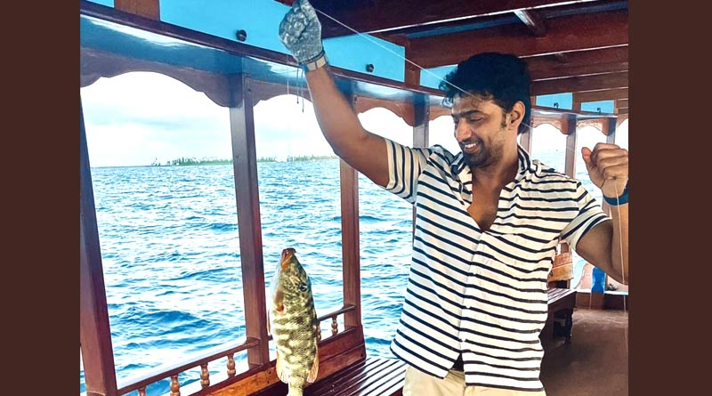 Tollywood actor Dev uploaded picture of Fishing in Maldives sea | Sangbad Pratidin