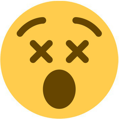 dizzy-face-emoji Meaning