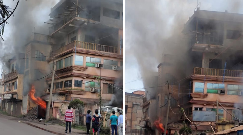 Fire breaks out at a hotel in Kharagpur, West Bengal   Sangbad Pratidin