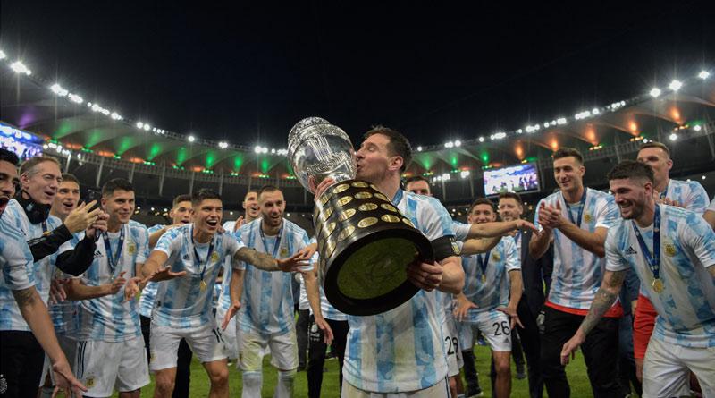 Lionel Messi creates history by winning Copa America 2021 trophy | Sangbad Pratidin