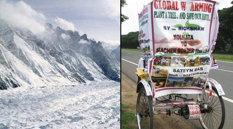 Rickshaw puller's Siachen Odyssey to protest fuel price rise | Sangbad Pratidin