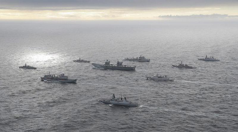 UK Carrier Strike Group 2021, led by HMS Queen Elizabeth, has sailed into Indian Ocean Region | Sangbad Pratidin