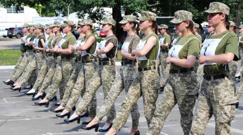 'Mockery': Backlash after Ukraine women troops march in heels | Sangbad Pratidin