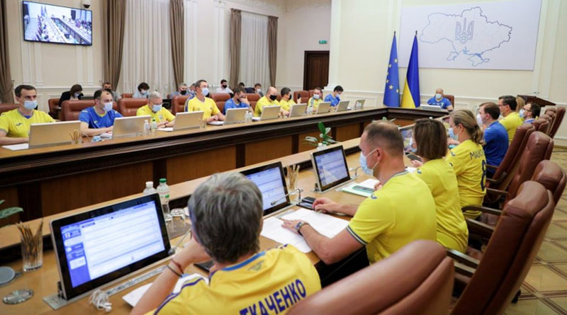 Euro 2020: Ukraine PM Denys Shmyhal wore football jersey at the meeting of the Government | Sangbad Pratidin