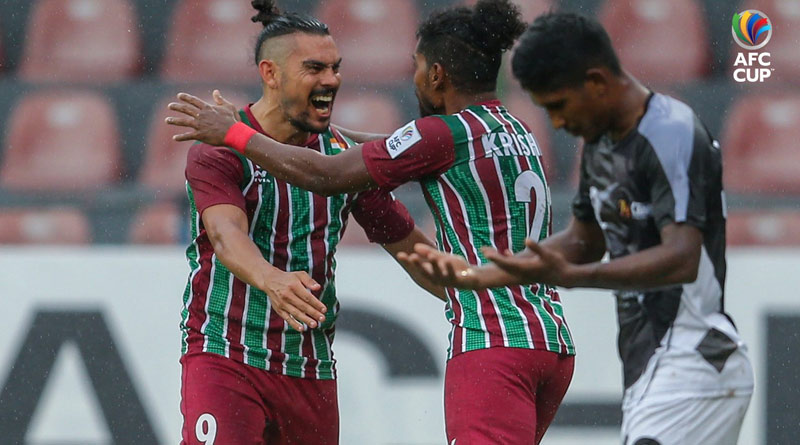 AFC Cup: ATK Mohun Bagan and Basundhara Kings match ends with a draw   Sangbad Pratidin