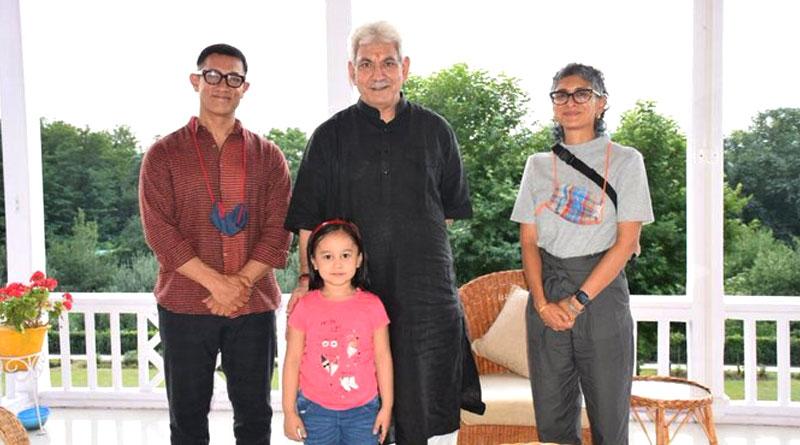 Here is why Aamir Khan and Kiran Rao met Jammu and Kashmir Lieutenant Governor | Sangbad Pratidin