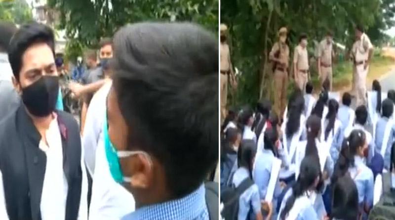 TMC MP Abhishekh Banerjee converse with protesting school students in Tripura | Sangbad Pratidin