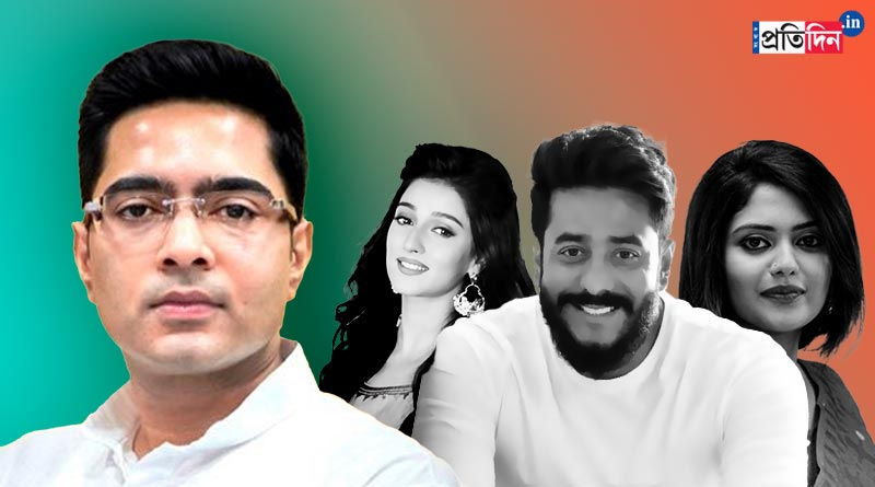 Raj Chakraborty, Saayoni Ghosh, Sayantika Banerjee protest attack on Abhishek Banerjee in Tripura | Sangbad Pratidin