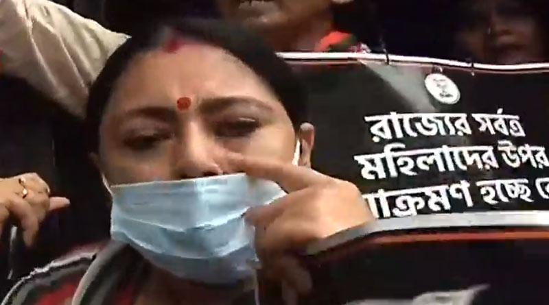 BJP MLA Agnimitra Paul arrested near Bhawani Bhaban while protesting against rape incident   Sangbad Pratidin