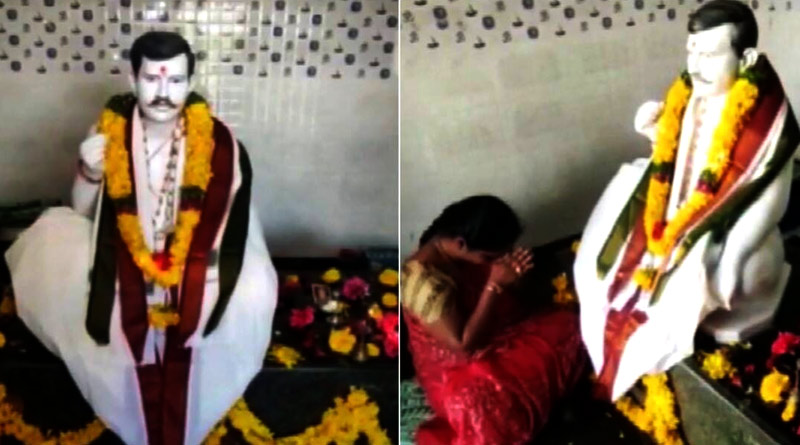 Andhra woman offers prayers to idol of dead husband after building a temple in his memory | Sangbad Pratidin