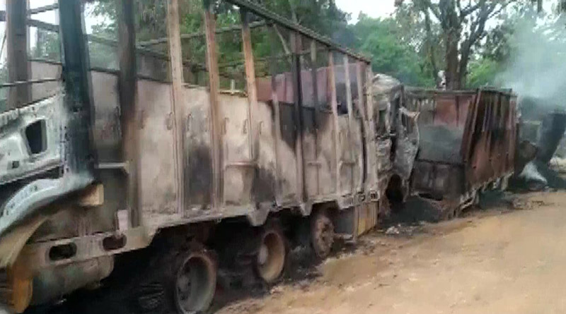 Assam: Five killed as suspected DNLA militants attack trucks | Sangbad Pratidin