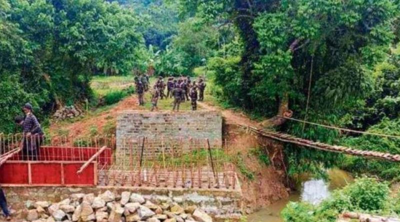 Tensions flare up again at Assam-Mizoram border over construction of bridge | Sangbad Pratidin