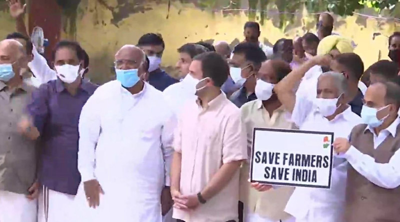 Rahul Gandhi leads Opposition to join farmers protest at Jantar Mantar | Sangbad Pratidin