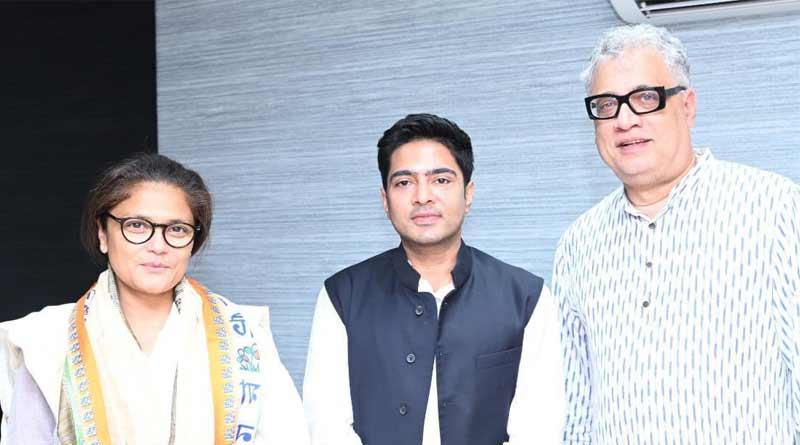 Sushmita Dev joins TMC in Kolkata just aftre leaving congress and meets Mamata Banerjee   Sangbad Pratidin