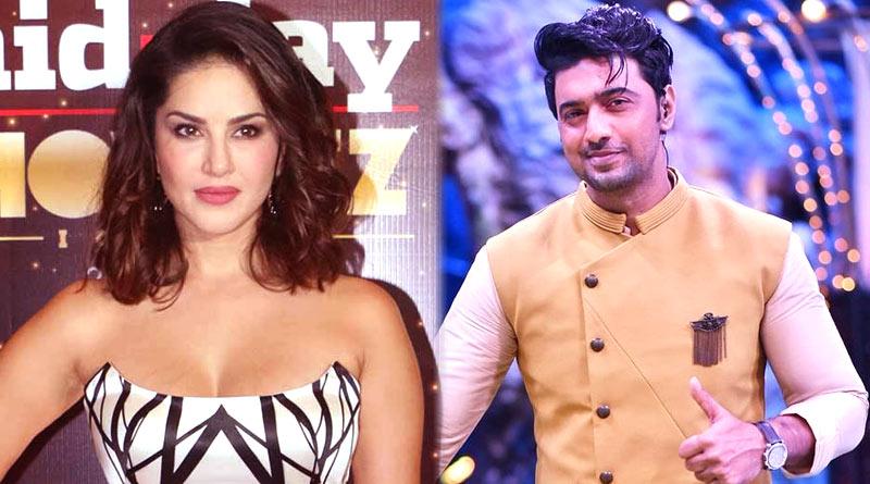 Dev and Sunny Leone Romance in Dance Dance Junior Season 2 | Sangbad Pratidin