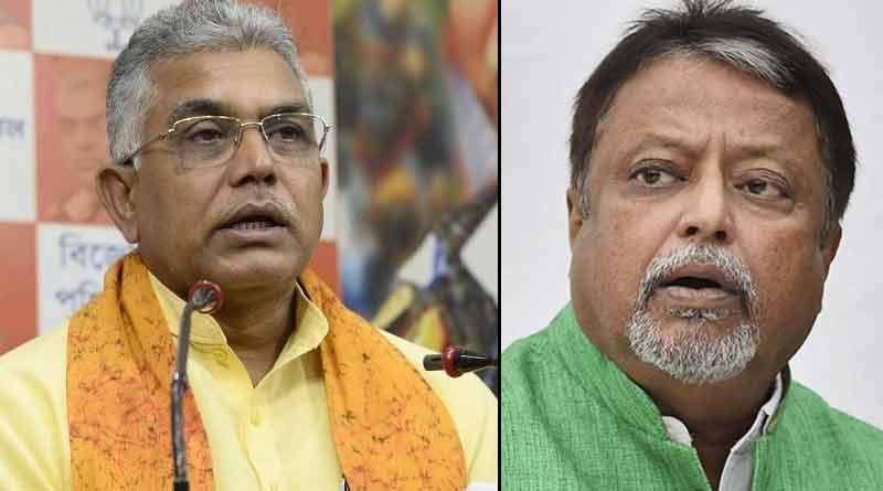 BJP State President Dilip Ghosh attacks Mukul Roy । Sangbad Pratidin