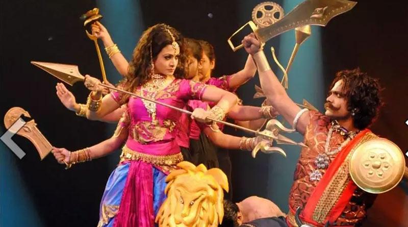 Actress Koel Mallick perform as durga in colors bangla for Mahalaya | Sangbad Pratidin