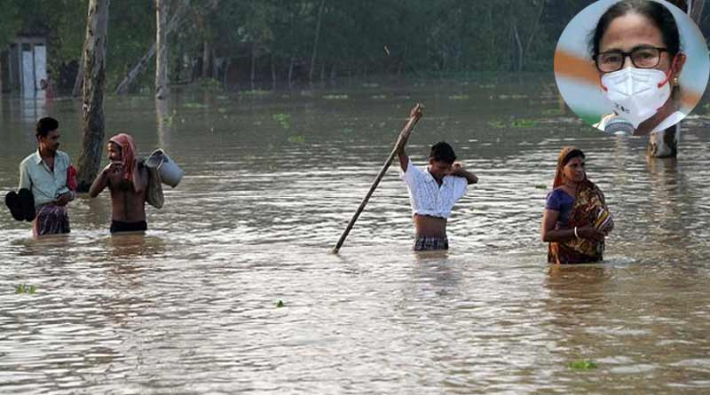 Mamata Banerjee worried about the flood situation of South Bengal । Sangbad Pratidin