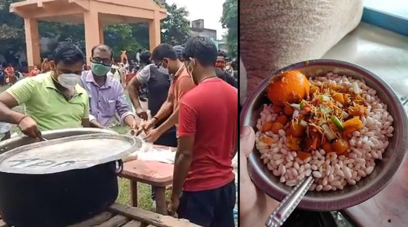 A club of asansol serves food in Duare sarkar camp | Sangbad Pratidin