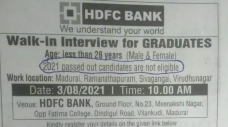 Bank issues clarification after their '2021 batch students not eligible' job advert goes viral | Sangbad Pratidin