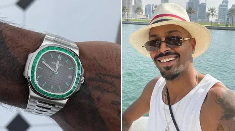 Cricketer Hardik Pandya flaunts a rare Patek Philippe emerald cut wristwatch worth 5 crore | Sangbad Pratidin