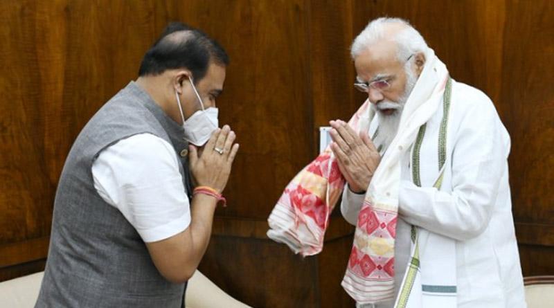 Himanta Biswa Sarma meets PM Modi, discusses Assam-Mizoram border issue | Sangbad Pratidin