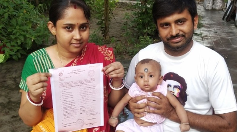 Parents from Ranaghat junk religion on toddler's birth certificate | Sangbad Pratidin