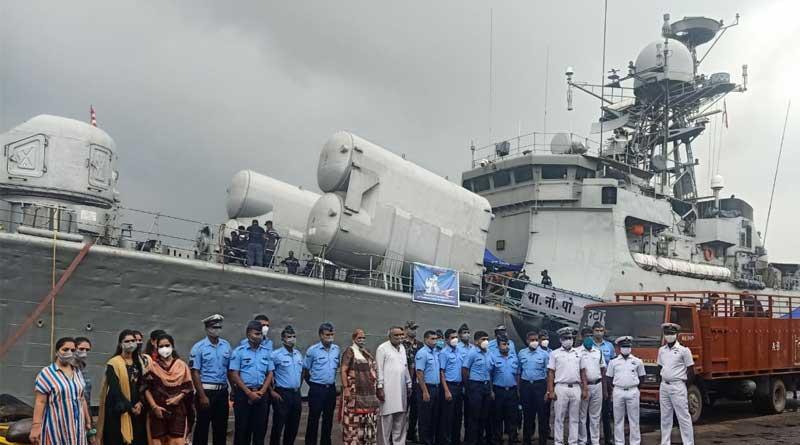 INS Kuthar makes Port Call at Kolkata to mark 'Azadi Ka Amrit Mahotsav' | Sangbad Pratidin