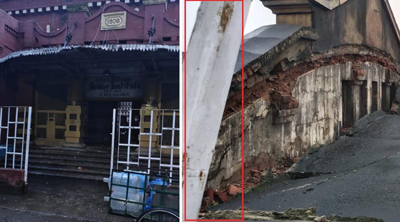 A portion of the roof of Heritage auditorium at Liluah collapsed, no casualities | Sangbad Pratidin