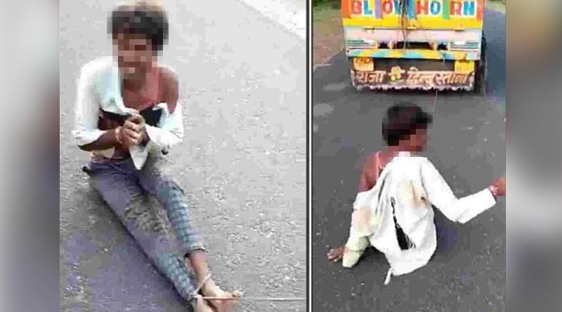 Tribal of Madhya Pradesh thrashed, tied to vehicle and dragged, dies   Sangbad Pratidin
