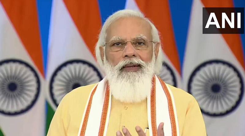PM Modi inaugurated a renovated complex of the Jallianwala Bagh memorial। Sangbad Pratidin