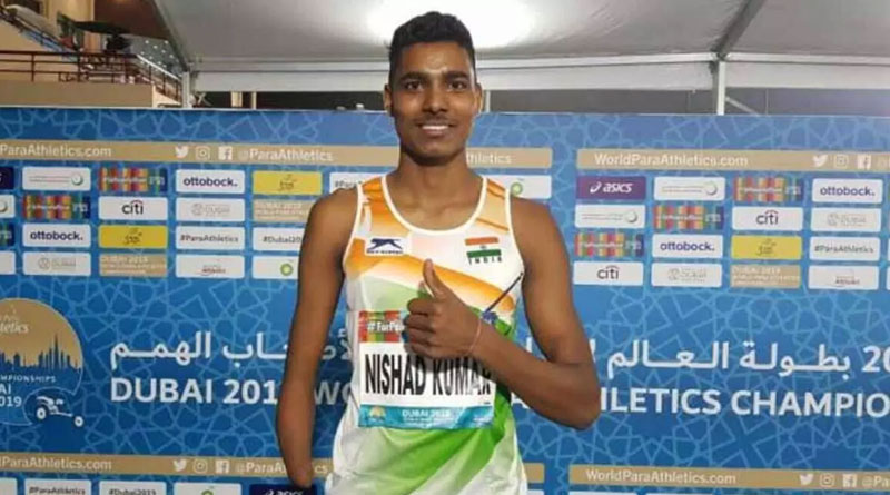 High jumper Nishad Kumar wins silver medal at Paralympics 2020 | Sangbad Pratidin