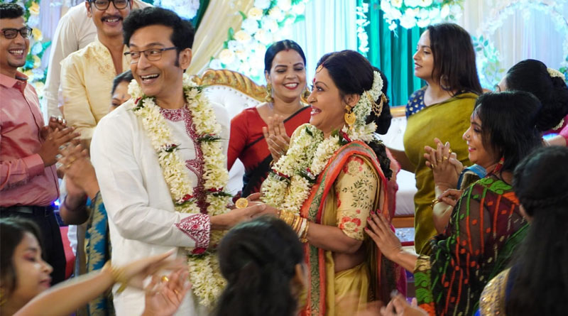 Sreemoyee Wedding: Pictures of much-awaited marriage of Rohit Sen aka tota roy choudhury and Sreemoyee aka Indrani haldar | Sangbad Pratidin