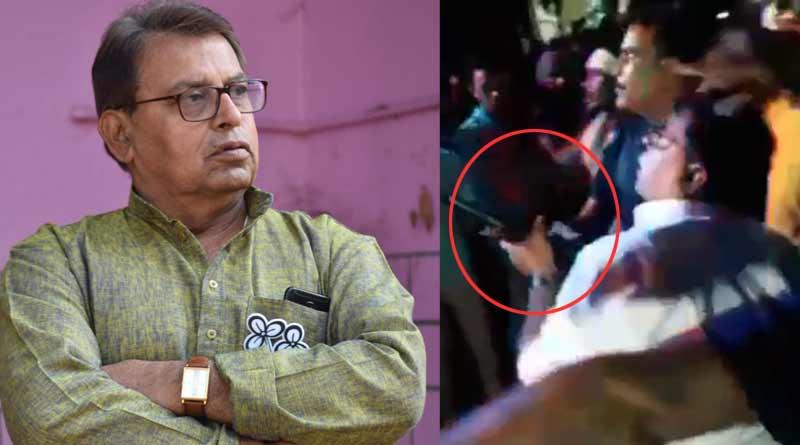 Purulia TMC leader Sujoy Banerjee holds AK-47 rifle, sparks row   Sangbad Pratidin
