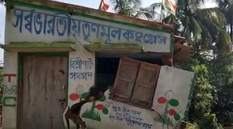 Due to heavy rainfall TMC party office broke down in West Medinipur । Sangbad Pratidin