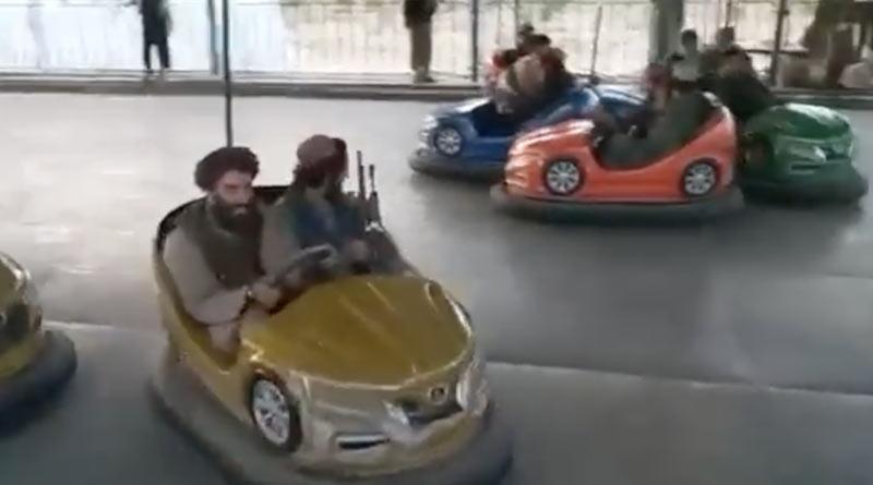 Taliban on merry-go-round, terrorists go on joy rides after Kabul seige, video viral   Sangbad Pratidin
